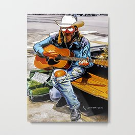 Guitar Man - Graphic 1 Metal Print