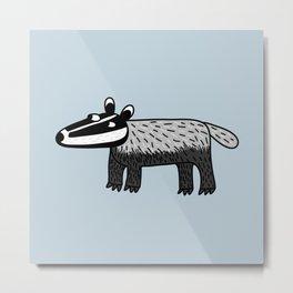 Badger Metal Print