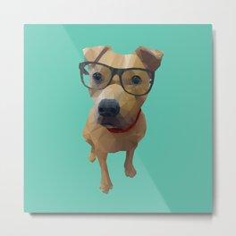 Kane the Staffie Dog Polygon Art Metal Print