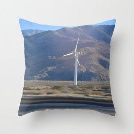 California Windmill Throw Pillow