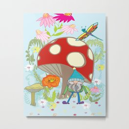 happy gnome and draggy Metal Print