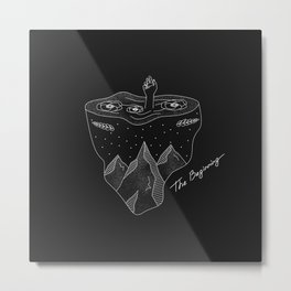 The Beginning - black Metal Print