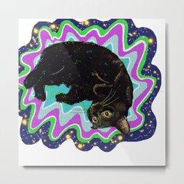 Cat-Nipped Metal Print
