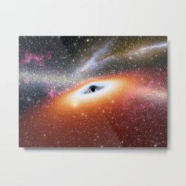 750. Prehistoric Black Hole Artist Concept Metal Print
