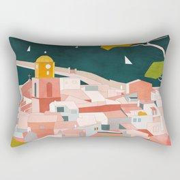 south france coast landscape Rectangular Pillow