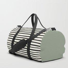 Sage Green x Stripes Duffle Bag