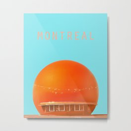 MONTREAL PASTEL Orange Julep Metal Print