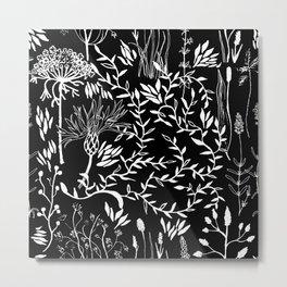 nature in black Metal Print