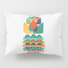 Colorful Whimsical Ananas Pillow Sham
