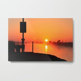 Everglades Sunrise Metal Print