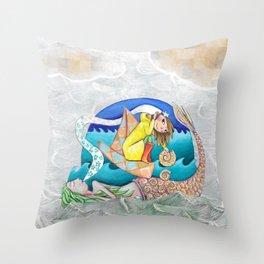 Sirenas Throw Pillow