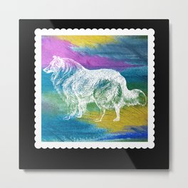 Dog Stamp Metal Print