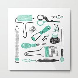 Art tools Metal Print