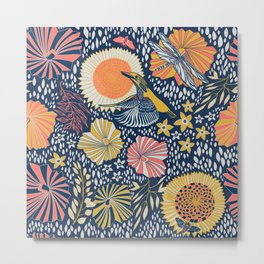 Coral kingfisher Metal Print