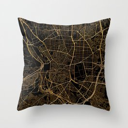 Madrid map, Spain Throw Pillow