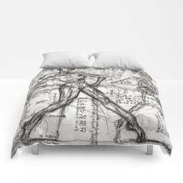 Clone Death - Intaglio / Printmaking Comforters