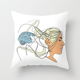 Brain Seperation Throw Pillow