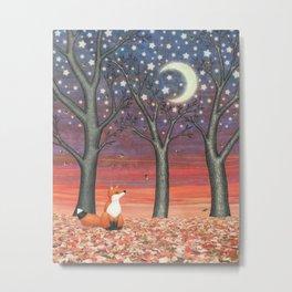 fox & fireflies Metal Print