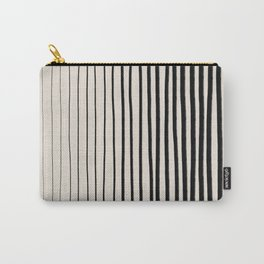 Black Vertical Lines Carry-All Pouch