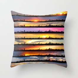 London Sunsets 003: Colour Throw Pillow