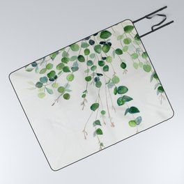 Eucalyptus Watercolor Picnic Blanket