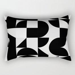 Modern Geometry / Minimal, Black, White, Grey Rectangular Pillow