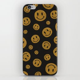 90's Smiley Face Pattern iPhone Skin