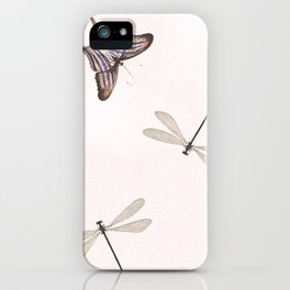 Butterflies and damselflies iPhone Case