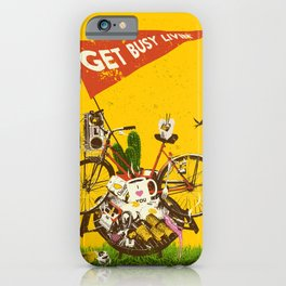GET BUSY LIVIN iPhone Case