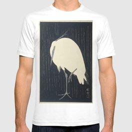 Egret in the rain, Ohara Koson (1925 - 1936) T-shirt