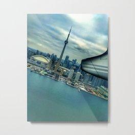 Toronto Skyline from Plane Metal Print