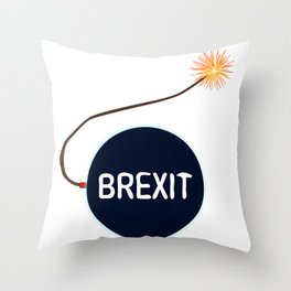 Brexit Black Bomb Throw Pillow