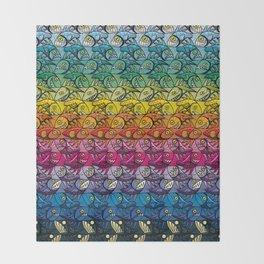 Escher Fish Rainbow Pattern Throw Blanket