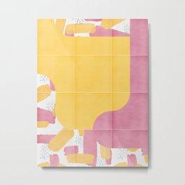 Bold Painted Tiles 03 #society6 #midmod Metal Print