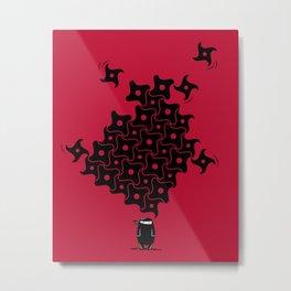 Ninja Tesselations Metal Print
