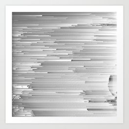 Japanese Glitch Art No.4 Art Print