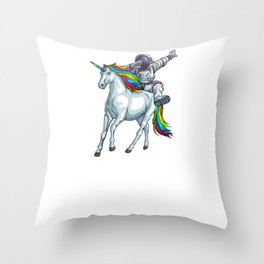 I Need More Space Astronaut Unicorn Outserspace Science Geek Throw Pillow