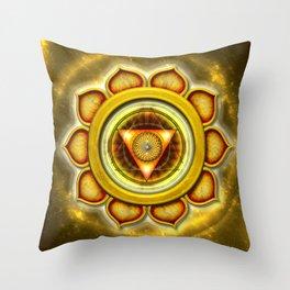 "Manipura Chakra - Solar Plexus Chakra Series ""Open Chakra"" Throw Pillow"