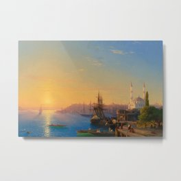 Ivan Aivazovsky - View of Constantinople and the Bosphorus Metal Print