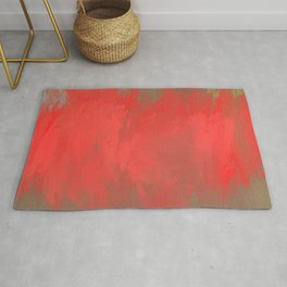 Jubilant 10 - Abstract Modern - Red Brown Gray Rug