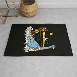 Bigfoot Riding Loch Ness Monster Conspiracy Rug