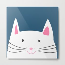 Cat head Metal Print