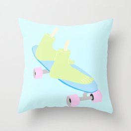 SKATEBOARDING TIL DEATH Throw Pillow