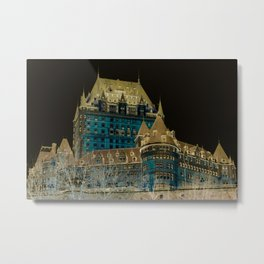 inverted Chateau Frontenac Metal Print