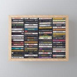 Old 80's & 90's Hip Hop Tapes Framed Mini Art Print