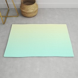Pastel Mint Green Blue Teal Yellow Ombre Gradient Pattern Soft Spring Summer Texture Rug
