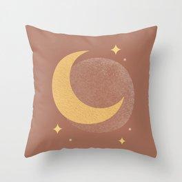 Moon Sparkle Gold - Celestial Throw Pillow
