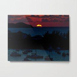 Jamaica Sunset Metal Print
