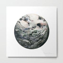 Dark Geode Metal Print
