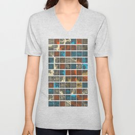 World Cities Maps Unisex V-Neck